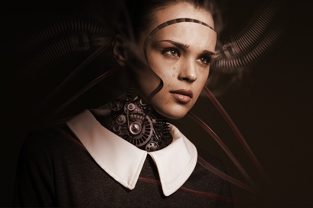 tvář robotky